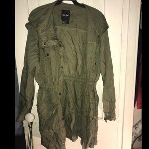 Olive Green Long Fall Jacket
